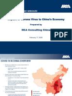 Impact of Corona Virus 2020-02-20