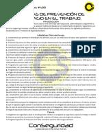 128.- Medidas de Prevención de Contagio en el Trabajo