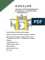Informe Desarrollo - Contenedores Reciclado