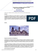 LA REHABILITACIÓN DE LA CATEDRAL METROPOLITANA DE LA CIUDAD DE MÉXICO