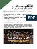 DE L'AUDACE POUR LES ÉVÊQUES DU TOGO
