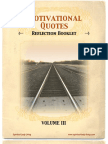 Motivational Quotes Reflection Booklet Volume 3