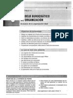 Modelo burocratico de organizacion