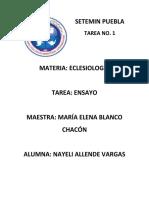 TAREA No.1 ECLESIOLOGÍA.docx