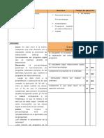 Planificaciones de informe
