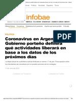 Coronavirus en Argentina_ el Gobierno porteño definirá qué actividades liberará en base a los datos de los próximos días - Infobae