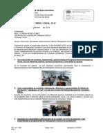 Informe de  Actividades Implementación Red de Participación Cívica Municipio de Galeras