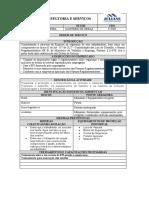 ORDEM DE SERVIÇO Operador de Betoneira