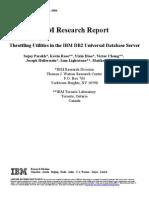 Throttling Utilities in the IBM DB2 Universal Database Server