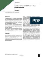 Caso clínico sobre el efecto de una intervención dietética en el estado nutricional de un paciente en hemodiálisis