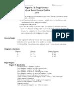 A2T Midyr Exam Outline 2011