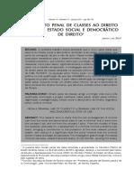 Do direito penal de classes ao direito penal do estado social e democrático de direito