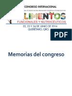Memorias 2do Congreso Internacional de Alimentos Funcionales y Nutracéuticos v1.1