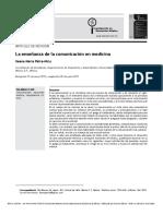 MOD I - La enseñanza de la comunicación en medicina