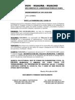 AL HABERSE DIAGNOSTICADO TRABAJADORES CONTAGIADOS POR LA COVID-19,SINDICATO EDIL DE HUACHO EXIGE CUARENTENA TOTAL DEL PALACIO MUNICIPAL Y ANEXOS