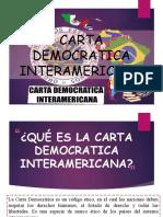 CARTA DEMOCRATICA INTERAMERICANA