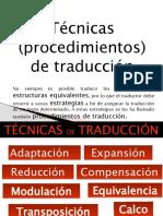 tecnicas o procedimientos de traduccion