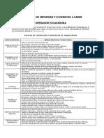 OBLIGACION DE INFORMAR EXCAVADORA