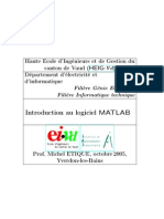 Introduction Au Logiciel MATLAB
