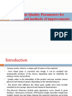 WHEAT QUALITY PARAMETERS