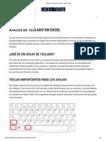 Atajos de teclado en Excel • Excel Total