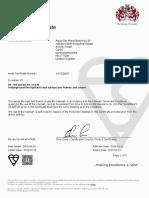 AVK Hydrant Kite Mark Certificate KM53897