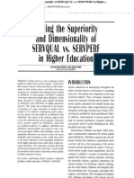 Testing the Superiority and Dimensionality of SERVQUAL vs. SERVPERF