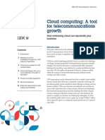 Cloud computing- a tool for telecommunications growth