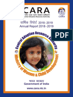 Annual Report of CARA for 2018-2019(English)