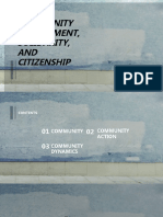 COMMUNITY,SOLIDARITY,AND CITIZENSHIP