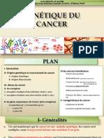 GENETIQUE DU CANCER-2018-2019