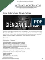 10 Lista de Leitura de Ciência Política