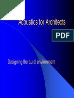 Acoustics for Architects.pdf