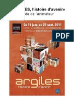 Dossier pédagogique de l'exposition Argiles histoire d'avenir, 2011