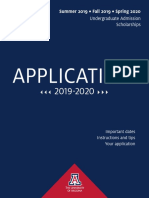 2019-2020 Freshman-Transfer Paper Application