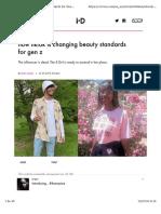How tiktok is changing beauty standards for gen z