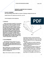 A Reevaluation of an Efficient Algorithm for Determining the Convex Hull of a Finite Planar Set