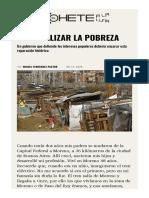Nacionalizar la pobreza