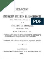 Inundación del Mapocho en 1783