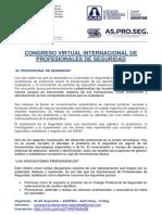 CONGRESO VIRTUAL INTERNACIONAL DE PROFESIONALES DE SEGURIDAD