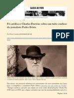 2020.01.29 - Fé católica e Charles Darwin sobre um tuíte confuso do jornalista Pedro Dória