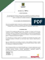 Decreto 169 Unificado Aislamiento y Medidas Adicionales