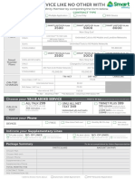 Infinity Application Form
