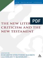 The new literary criticism and the New Testament by McKnight, Edgar V. Malbon, Elizabeth Struthers (z-lib.org).pdf