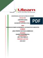 Informe de Diseño Experimental Informativo