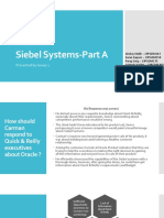 Siebel Systems-Part A
