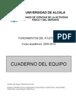 2010-2011 Cuaderno Del Equipo (Atletismo)