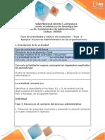 Guía de actividades y rúbrica de evaluación –  Fase 4 – Apropiar el proceso Administrativo en las organizaciones
