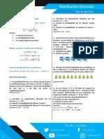 Distribución binomial ejercicios propuestos en PDF