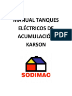 MANUAL TANQUES ELÉCTRICOS DE ACUMULACIÓN KARSON